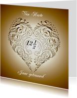 Felicitatiekaarten - Felicitatie voor jubileum koper hart