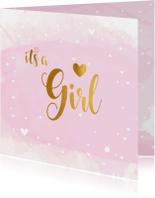 Felicitatiekaarten - Felicitatiekaart Geboorte its a Girl