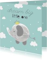 Felicitatiekaarten - Felicitatiekaart geboorte Jongetje Dream Big Little One