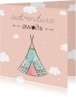 Felicitatiekaarten - Felicitatiekaart geboorte meisje - Adventure Awaits