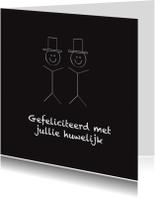 Felicitatiekaarten - Felicitatiekaart huwelijk 2 mannen