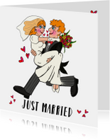 Felicitatiekaart huwelijk PA