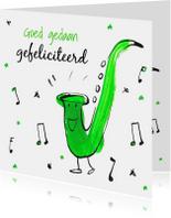 Felicitatiekaarten - Felicitatiekaart Saxofoon