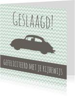 Felicitatiekaartje Rijbewijs -WW