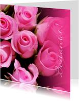 Fotokaart bedankkaart roze