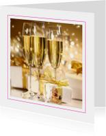 Fotokaart champagne en cadeaus