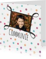 Fotokaart communie met stippen
