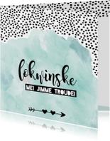 Fryske wenskaart 'Lokwinske mei jimme troudei'