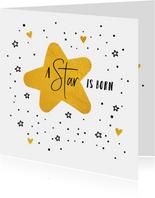 Felicitatiekaarten - Geboorte A star is born