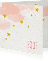 Geboortekaartjes - Geboorte meisje in de wolken