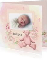 Geboorte meisje waterverf -beer-