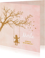 Geboorte silhouette merle - B