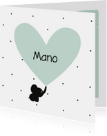 Geboortekaartjes - Geboortekaart Olli-fantje mint