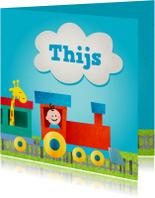 Geboortekaartjes - Geboortekaart trein jongen
