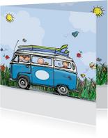 Geboortekaart VW blauw