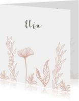 Geboortekaartjes - Geboortekaartje bloemenveld