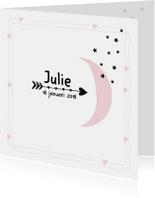 Geboortekaartjes - Geboortekaartje Maan Julie
