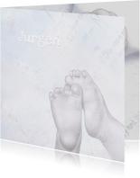 Geboortekaartje met babyvoetjes