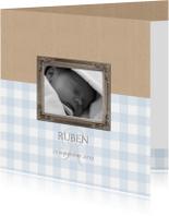Geboortekaartje Ruben lijst