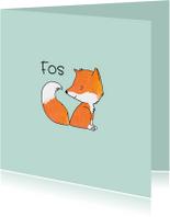 Geboortekaartjes - Geboortekaartje getekend vos
