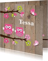 Geboortekaartje zusje uiltjes houtlook