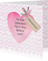 Felicitatiekaarten - gefeliciteerd kleinkind hart