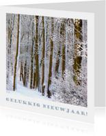 Gelukkig nieuwjaar ijzelbomen