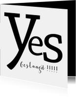 Geslaagd typografisch yes