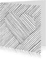 gestreept hartje vierkant