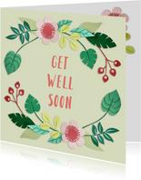 Get well soon bloemenrand