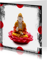Gouden buddha op roze lotus - OT