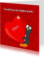 Valentijnskaarten - Grappige pinguin valentijnskaart