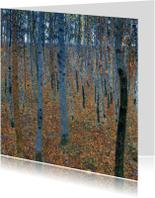Kunstkaarten - Gustav Klimt. Bos met berkenbomen