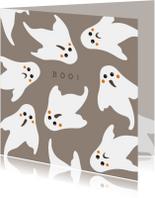 Halloween kaart Boo! - HB