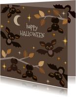Halloween kaarten - Halloween kaart Vleermuizen - HB