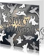 Halloween spookjes en wolken
