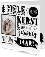 Kerstkaarten - Handlettering Kerstkaart NL Foto