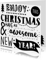 Kerstkaarten - Handlettering Kerstkaart