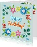 Verjaardagskaarten - Happy Birthday! boemenrand