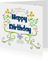 Verjaardagskaarten - Happy birthday! -IR