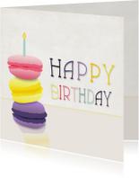 Verjaardagskaarten - Happy birthday Macarons