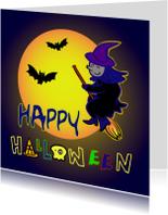 Happy halloween heks kaart -IR