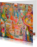 Kunstkaarten - Happy new world