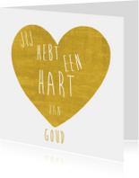 Hart van goud hart