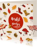 Zomaar kaarten - Herfstkaart met groetjes