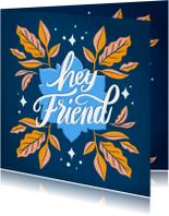 Hey Friend blauw