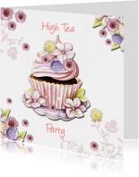 high Tea met cupcake bloemen