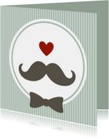 Vaderdag kaarten - Hippe kaart met snor (3)