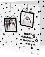 Kerstkaarten - Hippe kerstkaart stippen foto