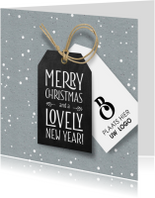 Hippe zakelijke kerstkaart label en logo